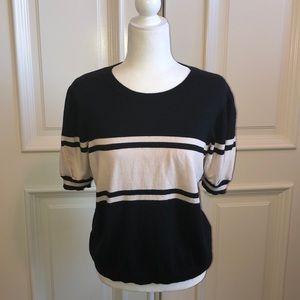 joie Sweaters - Joie Cotton & cashmere blue & light cream  sweater